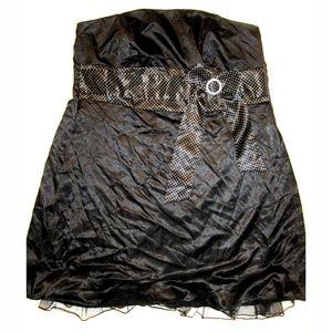🆕 Torrid PLUS 22 3X Black Satin Polka Dot Dress